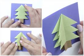 easy origami christmas tree card tutorial