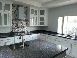 white harmony kitchen with blue pearl granite top contemporary