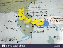 Florida On The Map by 092904 Hur Jeanne Vero Beach Fl Ms Pacman Marks The Path