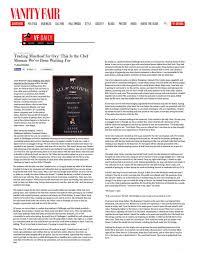 Vanity Fair On Line Press U2014 Jesse Schenker
