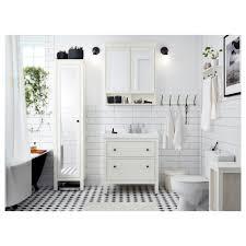 hemnes high cabinet with mirror door white 49x31x200 cm ikea