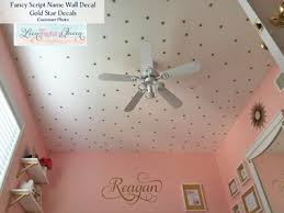 Star Decals For Ceiling by Star Shaped Wall Decals Set Of 200