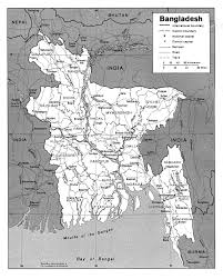 Blank Map Of Bangladesh by