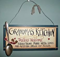 rustic grandma u0027s kitchen tasters welcome home decor wood sign