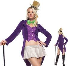 Womens Joker Halloween Costume Magical Candy Maker Halloween Costumes Women Willy Wonka