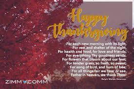 happy thanksgiving from zimmcomm new media animal