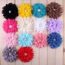 flowers for headbands 30pcs lot 4 14 colors handmade soft fabric flowers for headbands