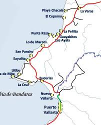 map of mexico cities your guide to the towns and cities of riviera nayarit