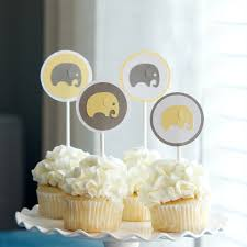 baby shower elephant cupcake toppers 12 00 via etsy adrian