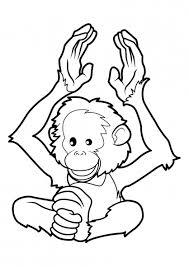 singe 14 animaux u2013 coloriages à imprimer