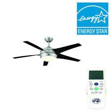 Hampton Bay Ceiling Fans Troubleshooting Remote by Hampton Bay Windward Ii 54 In Indoor Brushed Steel Ceiling Fan