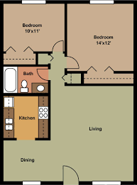 2 Bedroom Apartment Layouts One Bedroom Apartment Floor Plans Myhousespot Com