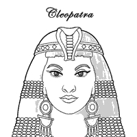 cleopatra coloring sheet homeschool egyptian study