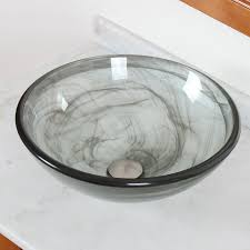 vessel sinks wayfair double layered tempered glass bowl bathroom