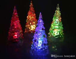 Tree Led Lights 2018 Acrylic Artificial Flocking Tree Led Multicolor
