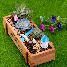 planter for succulents natural wooden succulent plant flower bed pot box garden planter