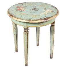 round distressed end table 20 wear and tear appeal of shabby chic accent table home design lover