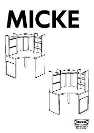 Micke Desk Ikea Review Ikea Micke Corner Desk Instructions Hostgarcia