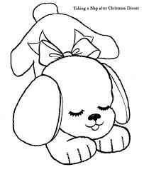 free coloring pages sleeping puppy coloringof