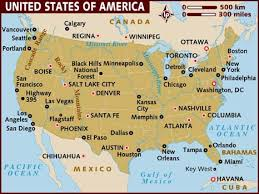 map of america with cities map of usa