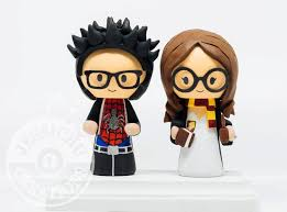 marvel cake toppers groom and hermione harry potter wedding cake