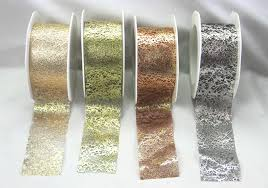 organza ribbon wholesale metallic organza ribbon wholesale 38mm green tara 4 colours