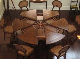 table round dining room table with leaf industrial expansive the