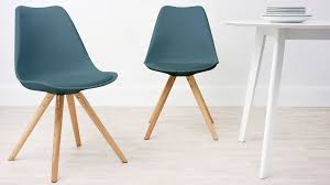 Teal Dining Table Plastic Dining Chair Pu Padded Seat Wooden Legs Uk