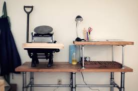 diy letterpress diy work table bartlett design