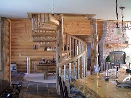 custom wooden log spiral staircases photo gallery