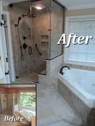 Bathroom Shower Tub Ideas Colors Bathroom Remodel Example Like The Corner Tub And Shower Enclosure