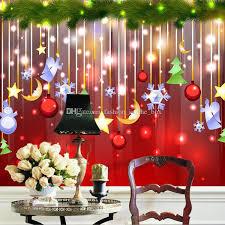 christmas decoration wallpaper lovely photo wallpaper custom 3d