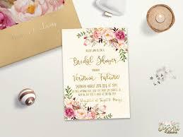 floral bridal shower invitation printable boho bridal shower