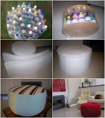Plastic Ottoman Recycle Plastic Bottles Into Ottomans For Some Seating Space