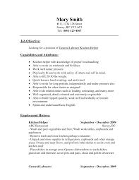 General Laborer Resume Sample Resume Objective General Labor Templates Medical Assistant