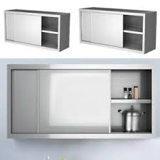 kitchen cabinet sliding doors details about commercial stainless steel kitchen cabinet unit wall sliding door rack cupboard