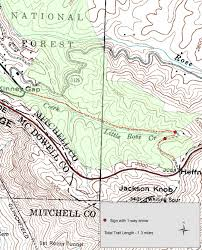 Jackson Michigan Map by Stanback Trails Southern Appalachian Highlands Conservancy
