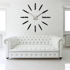 diy large watch wall clock decor modern design creative stickers