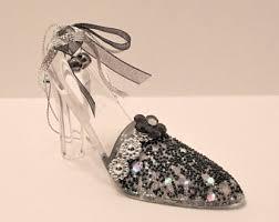 vintage cinderella glass slipper etsy