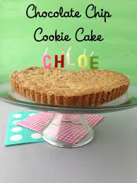 chocolate chip cookie cake weelicious