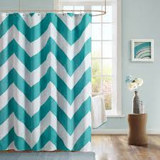 interior design complete pattern of chevron curtains in white and