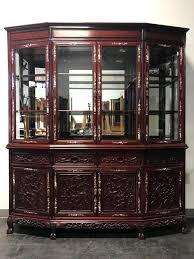 rosewood china cabinet for sale sold out vintage rosewood with mother of pearl inlay asian china