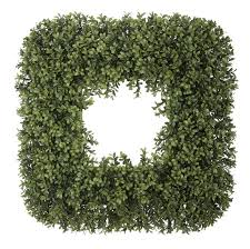 artificial boxwood wreath house of silk flowers 23 artificial boxwood wreath reviews