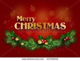 beautiful merry greeting card illustration stock