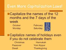 the or laws of capitalization and use them in your