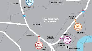 Map New Orleans Life Expectancy Map New Orleans Infographic Rwjf