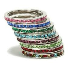 stackable birthstone rings stackable birthstone rings in silver shop thought