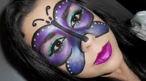 Halloween Makeup Butterfly by Makeup Butterfly Mask Halloween Or Carnival Youtube