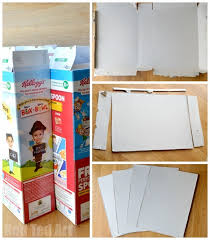cereal box to foldable doll s house diy perfect take along house