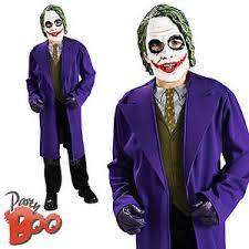Batman Dark Knight Halloween Costume Joker Age 8 9 10 Boys Fancy Dress Batman Dark Knight Child